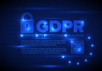 Blue Digital Security Web Banner Layout