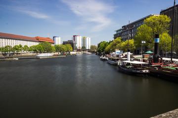 Old harbor in Berlin, Germany