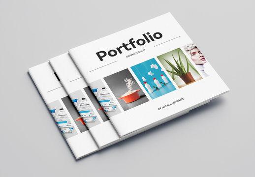 Square Graphic Design Portfolio Layout