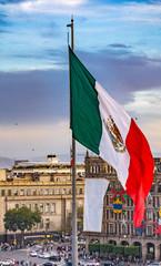 Presidential Palace Zocalo Chrsitmas Flag Mexico City Mexico