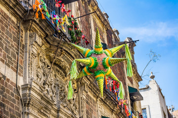 Pinata Christmas Decorations Madero Street Mexico City Mexico