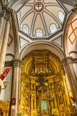 Basilica Altar Dome San Francisco Church Mexico City Mexico