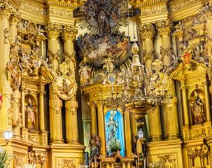 Mary Statue Basilica Altar San Francisco Church Mexico City Mexico