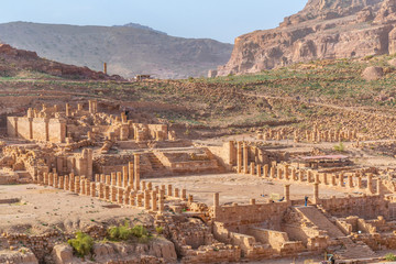 Ruins of the great temple at Petra, Jordan