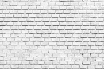 Abstract Black and White Structural Brick Wall. Panoramic Solid Surface.