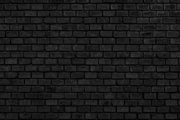 dark grey black brick wall  texture background