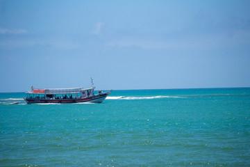 ship in the sea
