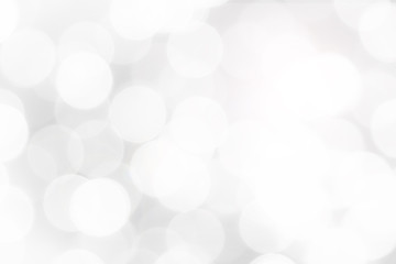 Abstract White Bokeh with soft blurred background
