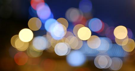 Blur of city night view