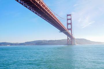 View of the Golden Gate Bridge . San Francisco, California, USA.