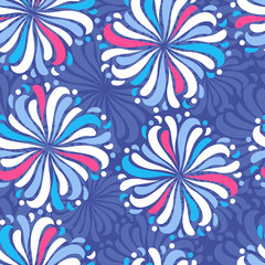 Seamless abstract pattern with the image of a flower ornament.