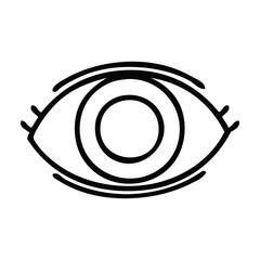 line drawing cartoon eye