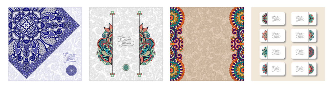 unusual floral ornamental template with place for your text