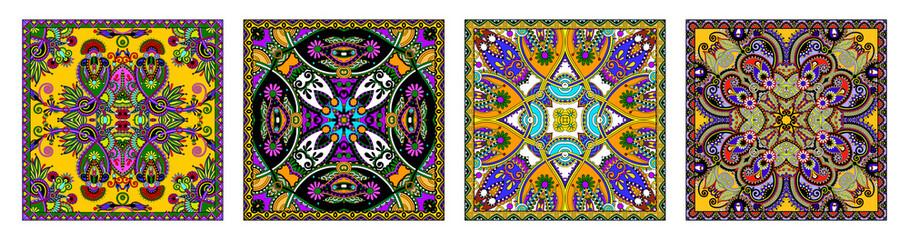 Acrylic Prints Moroccan Tiles Traditional ornamental floral paisley bandanna