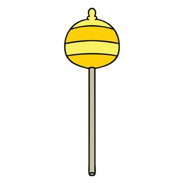 quirky hand drawn cartoon golden sceptre