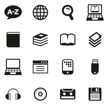 Dictionary or Glossary Icons