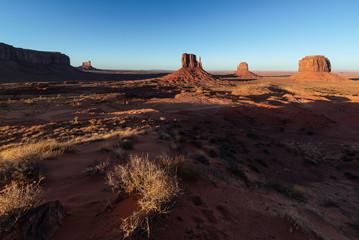 Monument Valley Navajo Tribal Park on the Arizona-Utah border, USA