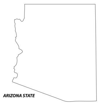 Arizona - map state of USA