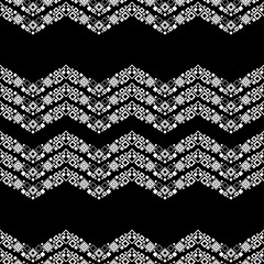 Trendy seamless pattern designs. Zigzag lace. Vector geometric background. Can be used for wallpaper, textile, invitation card, wrapping, web page background.