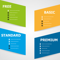 Offer Products and  Services variation. Vector graphic.
