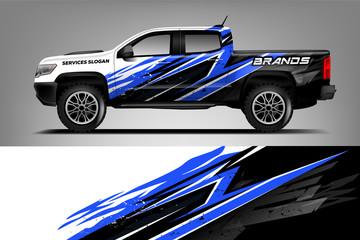 Fototapete - Company Truck wrap design. Custom livery wrap design for Company truck. ready print vector eps. - Vector