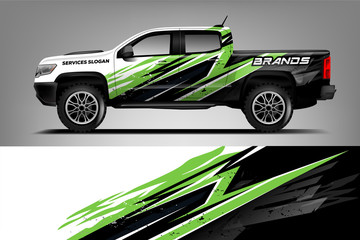 Company Truck wrap design. Custom livery wrap design for Company truck. ready print vector eps. - Vector