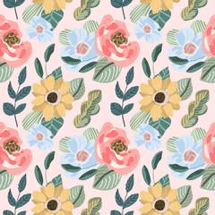 beautiful flower seamless pattern