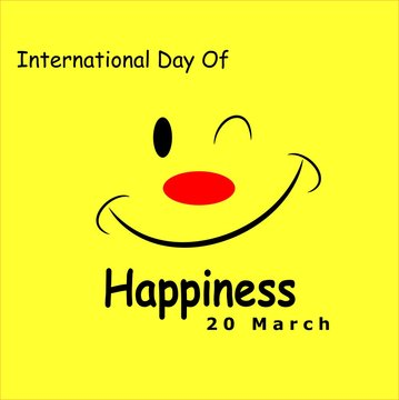International Day Of Happiness Vector Design - Illustration