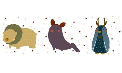 Cute Animals cartoon vector