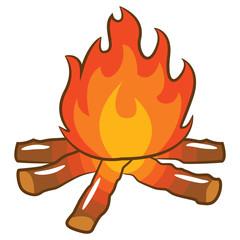 campfire vector clipart