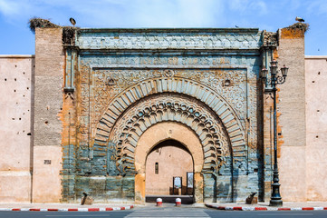 Bab Agnaou Gate in Marrakech, Morocco