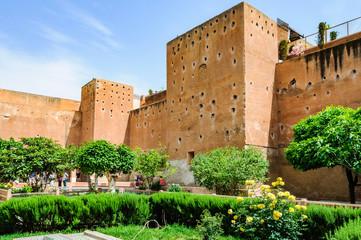 Garden of the Saadian Tombs in Marrakech, Morocco