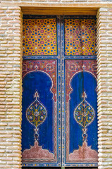 Colorful window in Marrakech, Morocco