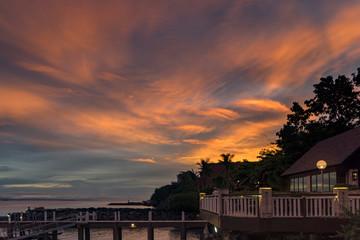 Sunset on Cebu Island, Philippines.