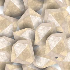 Diamond stone rough. Seamless pattern. Precious stone, gemstone, mineral.