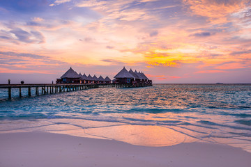 Island for relaxation in the Indian Ocean. Maldives