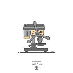 Drill press - Line color icon