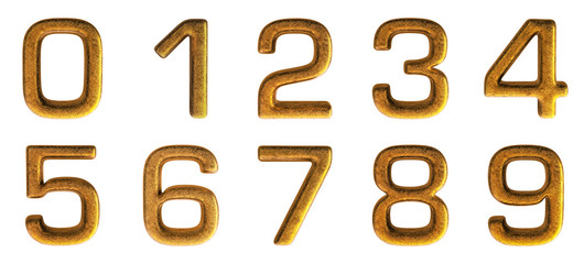 Gold Alphabet 3D Render Set