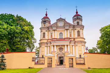 St. Peter's and St. Paul's church. Vilnius, Lithuania.