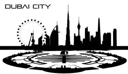 Vector Dubai City, United Arab Emirates
