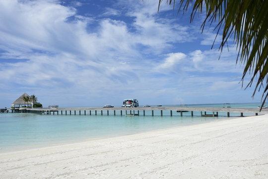 몰디브 바닷가