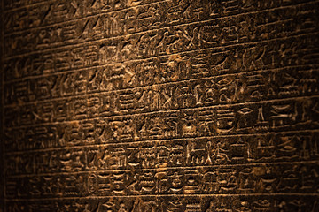 Hieroglyphics of ancient Egypt