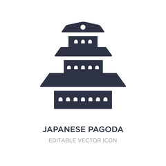 japanese pagoda icon on white background. Simple element illustration from Buildings concept.