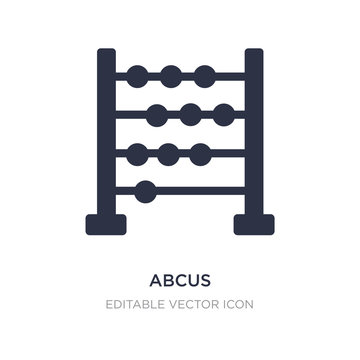 abcus icon on white background. Simple element illustration from Education concept.
