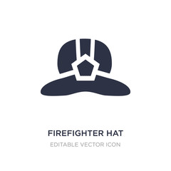 firefighter hat icon on white background. Simple element illustration from Fashion concept.