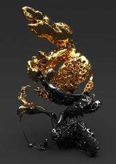 Liquid gold and black series