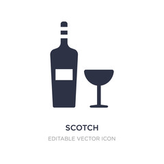 scotch icon on white background. Simple element illustration from Food concept.