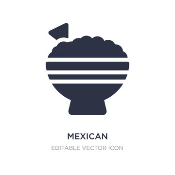 mexican icon on white background. Simple element illustration from Food concept.