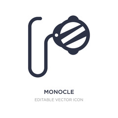 monocle icon on white background. Simple element illustration from Fashion concept.
