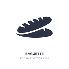 baguette icon on white background. Simple element illustration from Food concept.